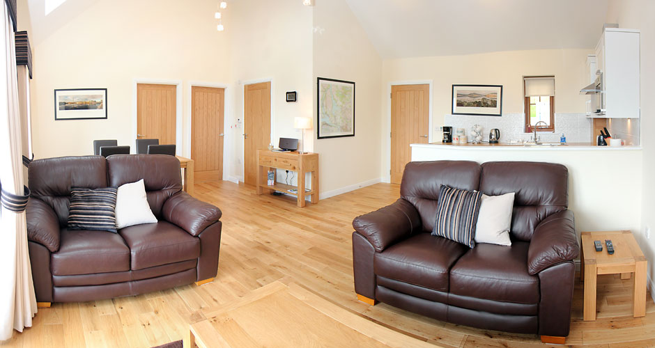 Spacious Living - The new cottages both have open-plan layouts and church-style ceilings.