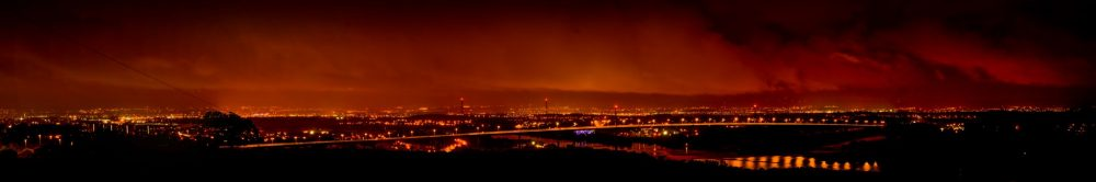 View from Gavinburn at Night